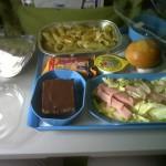 Almuerzo del avión que no comí