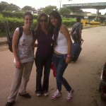María Paula, Olga y yo