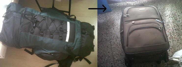 mochila vs valija